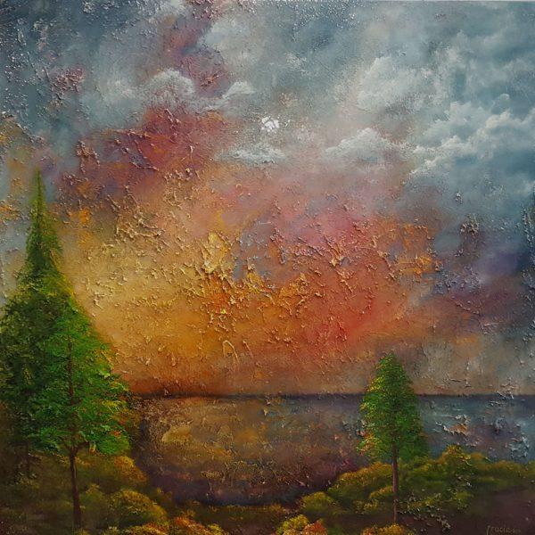 mixed media resin painting
